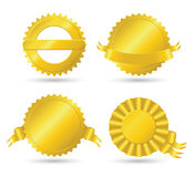 Golden medallions. Four golden medallions and awards Stock Images