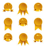 Golden Medals Stock Photography
