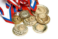 Free Golden Medals Royalty Free Stock Photography - 19839437