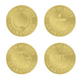 Golden medals / award coins Stock Photo