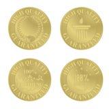 Golden medals / award coins Stock Photo