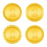 Golden Medals Royalty Free Stock Images