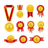 Golden medals Stock Images