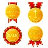 Golden medals Stock Photo