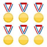 Golden Medals Royalty Free Stock Image
