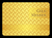 Golden member card with modern pattern Royalty Free Stock Photos