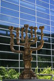 Golden Menorah in Jerusalem Royalty Free Stock Photography