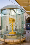 Golden Menorah in Jerusalem, Israel Royalty Free Stock Photos