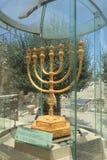 Golden Menorah in Jerusalem, Israel Stock Photos
