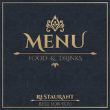 Golden menu design template. Royalty Free Stock Images