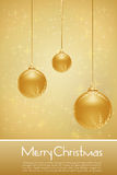 Golden Merry Christmas Card Royalty Free Stock Image