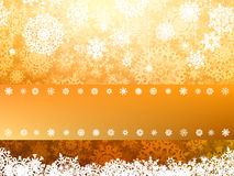 Golden Merry Christmas greeting card. EPS 8 Stock Photos