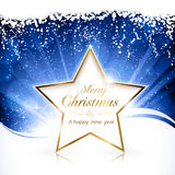 Golden Merry Christmas star Stock Images