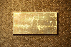 Golden metal background Stock Image