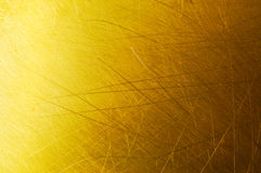 Golden metal background Stock Photography
