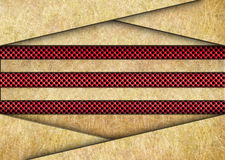 Golden metal background with red grid texture bronze plates Stock Photo