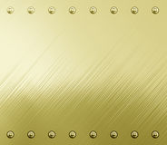 Golden metal background texture Royalty Free Stock Photo
