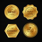Golden Metal Badges Royalty Free Stock Photo