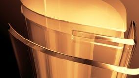 Golden metal cylinder stock footage