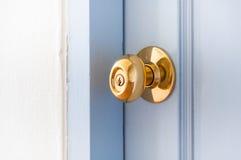 Golden Metal Door Knob Open House. Close-up door Golden stainless door knob royalty free stock photos