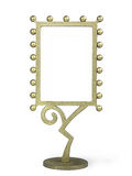 Golden metal frame Royalty Free Stock Photos