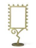 Golden metal frame royalty free stock photos