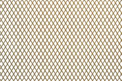 Golden metal grid Royalty Free Stock Images