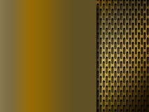 Golden metal grid background Royalty Free Stock Images