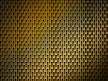 Golden metal grid background Royalty Free Stock Photo