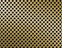 Golden metal grille surface Royalty Free Stock Images