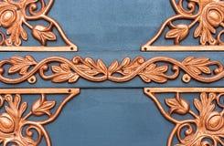 Golden metal lattice Stock Photography