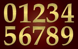 Golden metal numbers Royalty Free Stock Photo