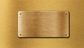 Golden metal plate Stock Image