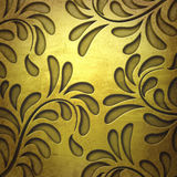 Golden metal plate background Royalty Free Stock Image