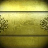 Golden metal plate background Stock Photos