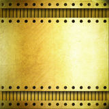 Golden metal plate background Royalty Free Stock Photo