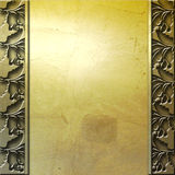 Golden metal plate background Royalty Free Stock Photos