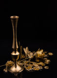 Golden metal products Royalty Free Stock Photo
