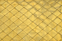 Golden metal roof tile panels texture background royalty free stock images