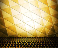 Golden Metal Room Royalty Free Stock Images