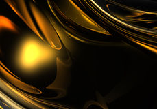 Golden metall in the darkness Royalty Free Stock Photos