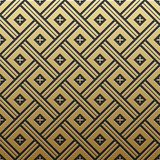 Golden metallic background with seamless pattern. Golden metallic background with seamless geometric pattern. Elegant luxury style Stock Photo