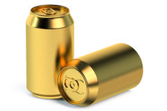 Golden metallic can Stock Image