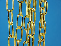 Golden metallic chain Stock Images