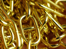 Golden metallic chain Stock Image