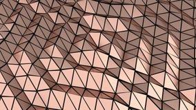 Golden metallic geometric abstract background 3D illustration. Golden metallic geometric abstract horizontal background 3D illustration stock illustration