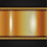 Golden metallic surface Royalty Free Stock Photos