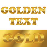Golden metallic text with gradient Royalty Free Stock Photography