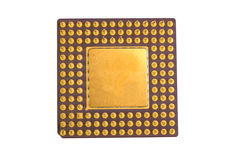Golden Micro Chip Royalty Free Stock Photography