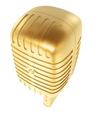 Golden microphone Stock Photos